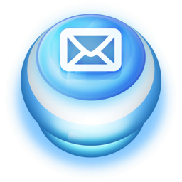 256x256px size png icon of Button Blue Mail