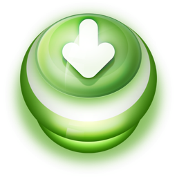 256x256px size png icon of Button Green Arrow Down