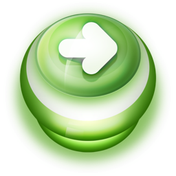 256x256px size png icon of Button Green Arrow Right