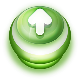 256x256px size png icon of Button Green Arrow Up