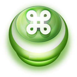 256x256px size png icon of Button Green Commandkey