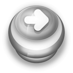 256x256px size png icon of Button Grey Arrow Right