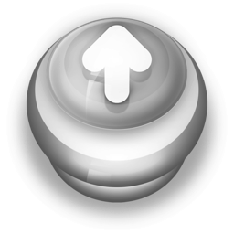 256x256px size png icon of Button Grey Arrow Up
