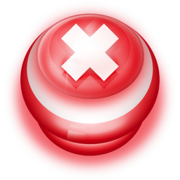 256x256px size png icon of Button Red Cancel