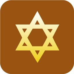 256x256px size png icon of Judaism Star of David
