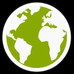 256x256px size png icon of midori globe