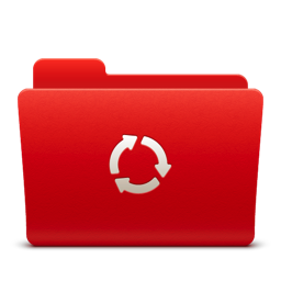 256x256px size png icon of Folder Sync