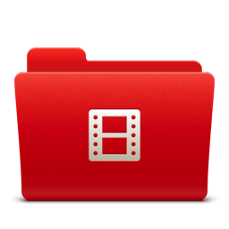 256x256px size png icon of Folder Video