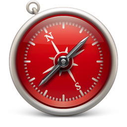 256x256px size png icon of Safari