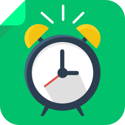 256x256px size png icon of alarm clock