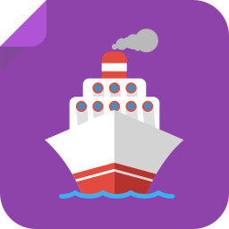 256x256px size png icon of boat