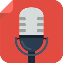 256x256px size png icon of recording micro