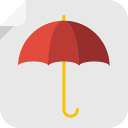 256x256px size png icon of umbrella