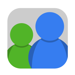 256x256px size png icon of Communication msn