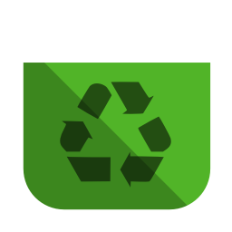 256x256px size png icon of System recycling bin empty