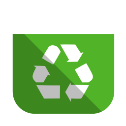 256x256px size png icon of System recycling bin full