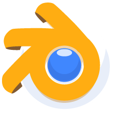 256x256px size png icon of Blender