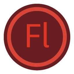 256x256px size png icon of App Adobe Flash