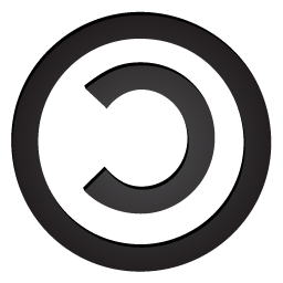 256x256px size png icon of copyleft