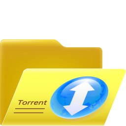 256x256px size png icon of open torrent folder