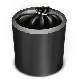 256x256px size png icon of Trash Black Full
