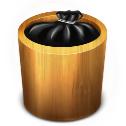 256x256px size png icon of Trash Wood Full
