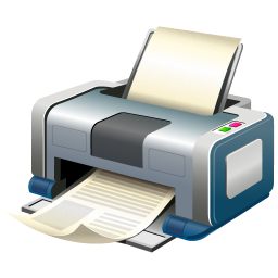 256x256px size png icon of Print