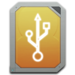 256x256px size png icon of drive external usb