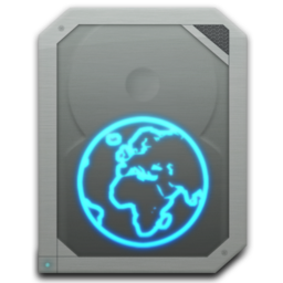 256x256px size png icon of drive idisk online