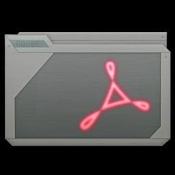 256x256px size png icon of folder adobe acrobat