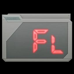 256x256px size png icon of folder adobe flash