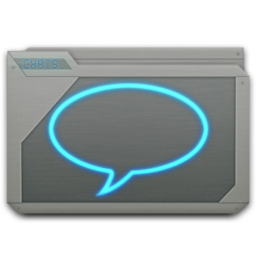 256x256px size png icon of folder chats