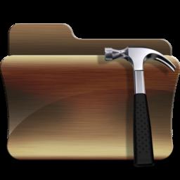 256x256px size png icon of folder developer