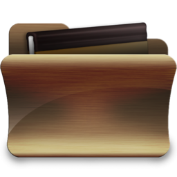 256x256px size png icon of folder library