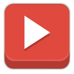256x256px size png icon of youtube