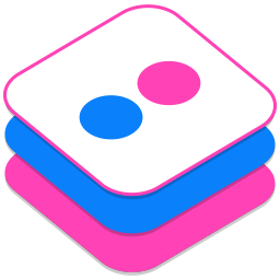 256x256px size png icon of Flickr 2