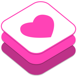 256x256px size png icon of Weheartit