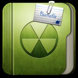 256x256px size png icon of Folder Burnable Folder