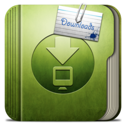 256x256px size png icon of Folder Download Folder
