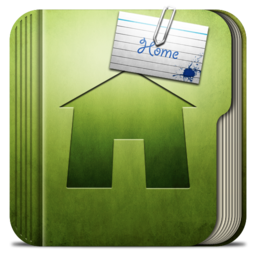 256x256px size png icon of Folder Home Folder
