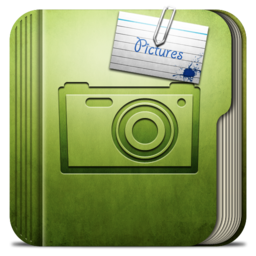 256x256px size png icon of Folder Pictures Folder
