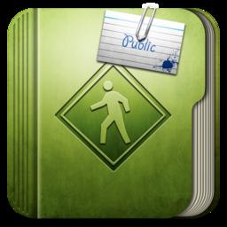 256x256px size png icon of Folder Public Folder