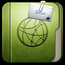 256x256px size png icon of Folder Server Folder