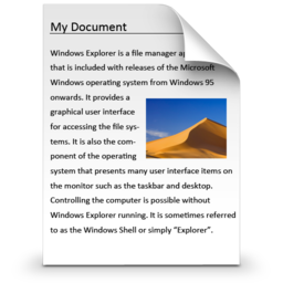 256x256px size png icon of Documents Library