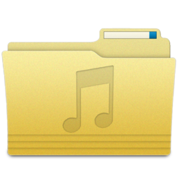 256x256px size png icon of Folders Music Folder