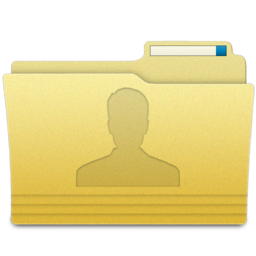 256x256px size png icon of Folders User Folder