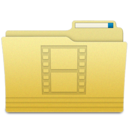 256x256px size png icon of Folders Videos Folder