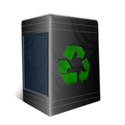256x256px size png icon of TrashCan Empty