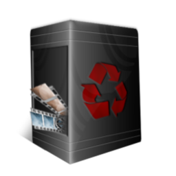 256x256px size png icon of TrashCan Full