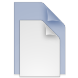 256x256px size png icon of (toolbar) documents blue